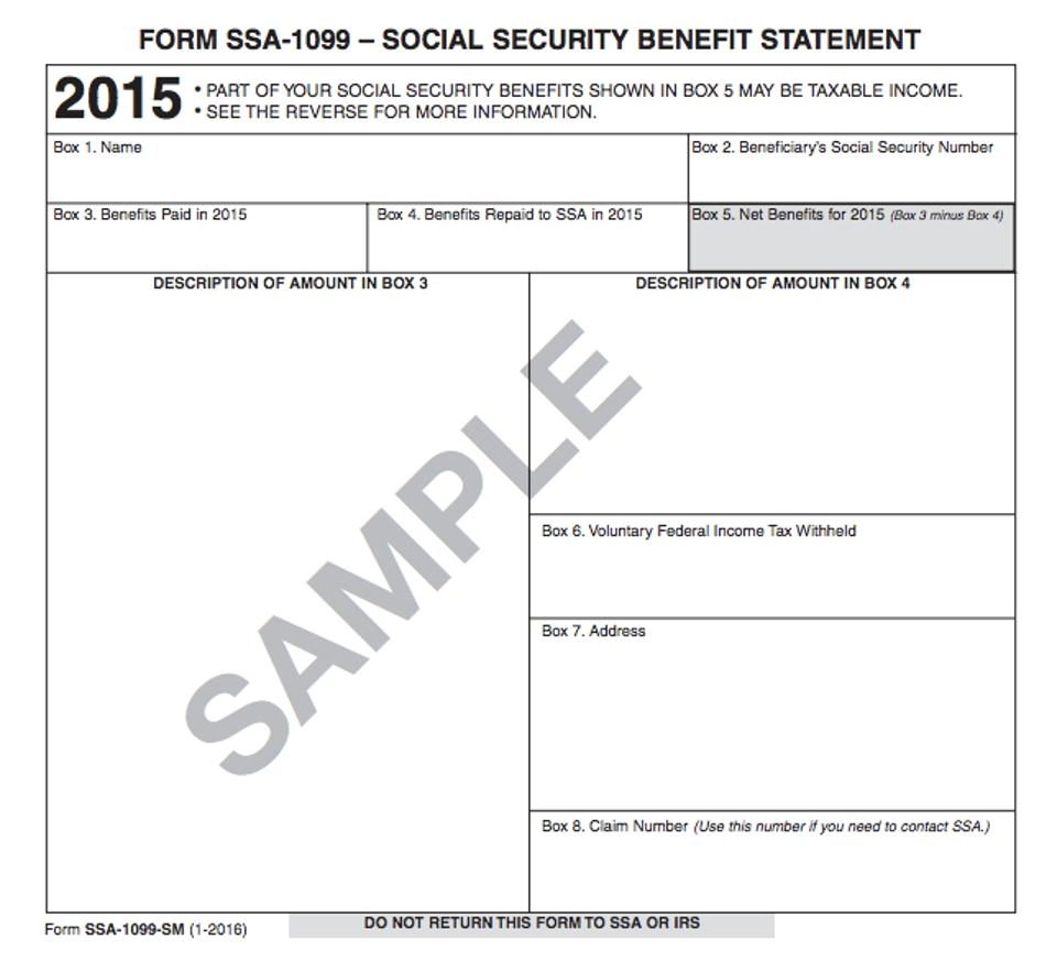 Did you receive your social security benefit statement for your tax form ssa 1099 thecheapjerseys Gallery