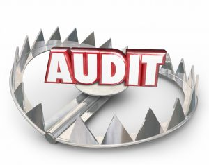 Audit Red 3d Word Steel Bear Trap Danger Warning Tax Review