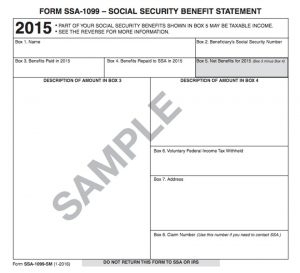 Did you receive your social security benefit statement for your tax return?