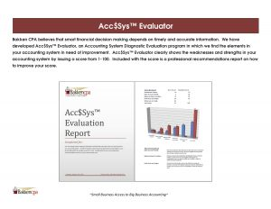 Acc$Sys Accounting System developed by Bakken CPA