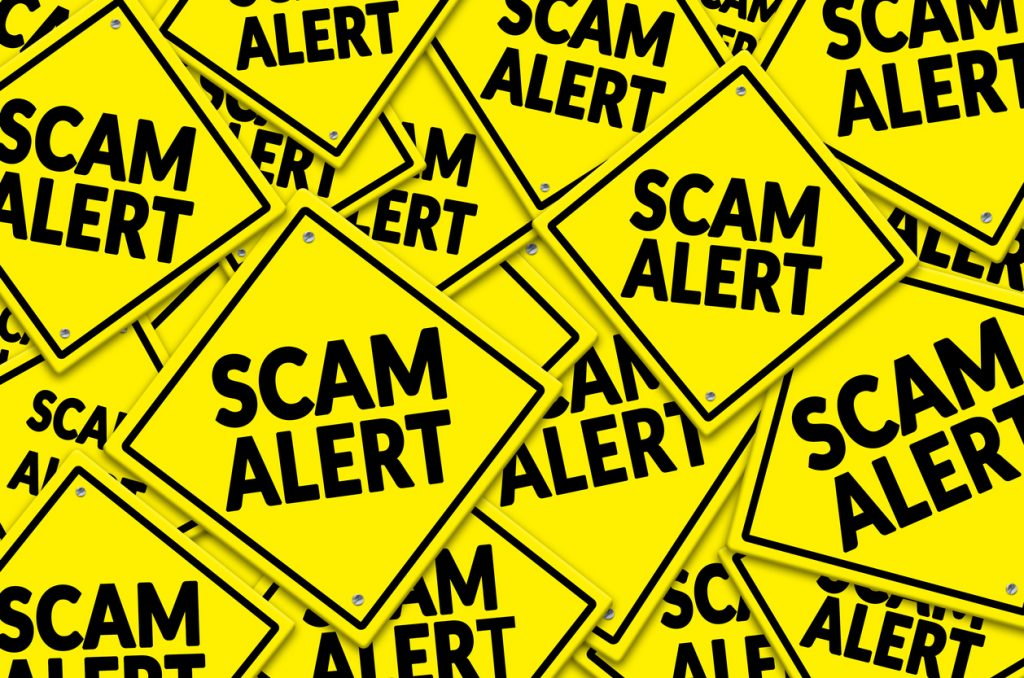 Scam alert warning signs