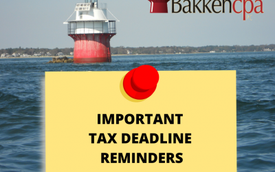 2019 Tax Deadline Reminders